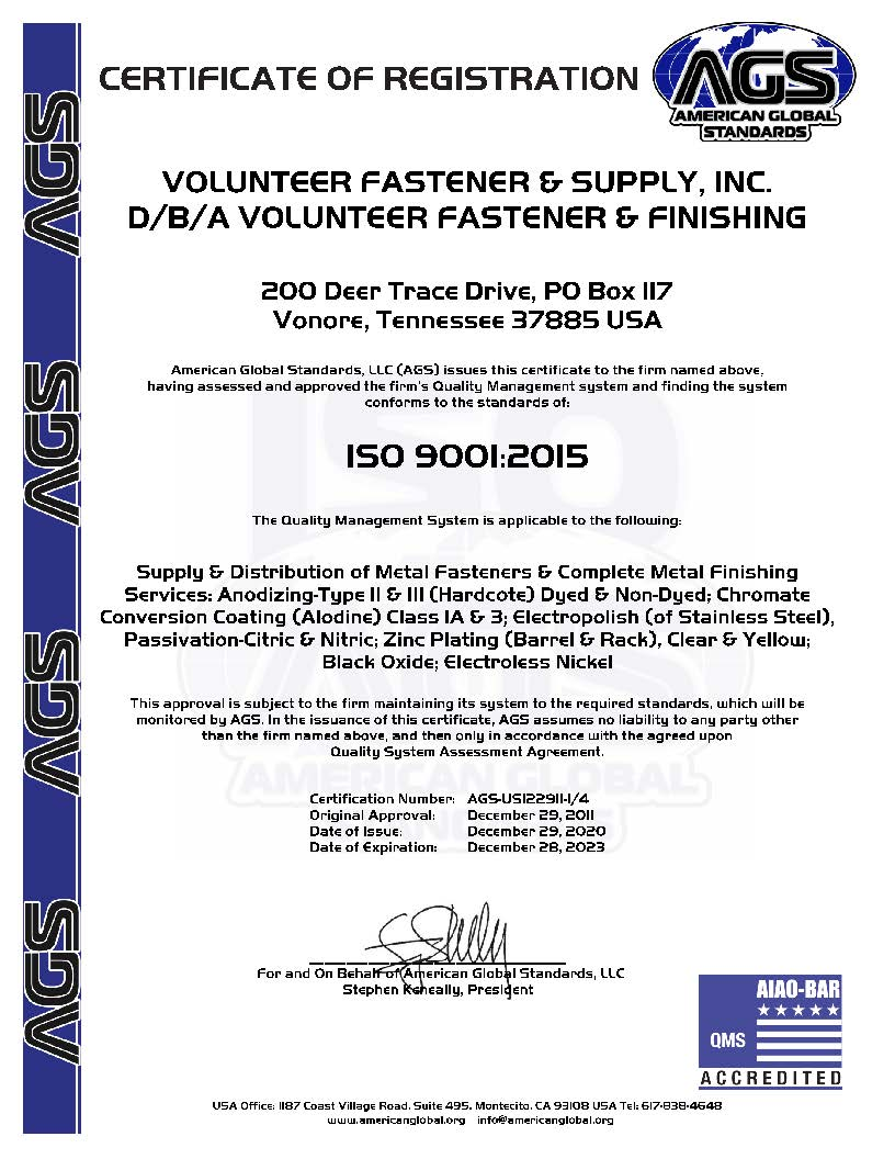 ISO Certification 2020-2023